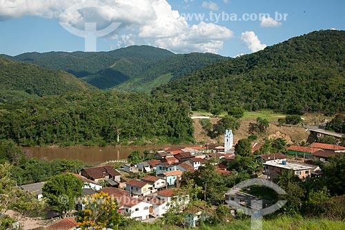 Assunto: Vista geral da cidade de Iporanga - Ponto de encontro do Rio Iporanga com o Rio Ribeira de Iguape  / Local: Iporanga - São Paulo (SP) - Brasil / Data: 02/2012