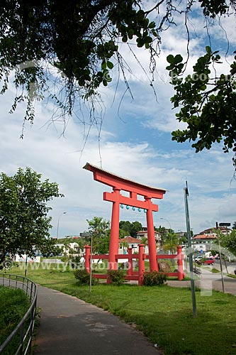 Assunto: Monumento Toori em homenagem aos 100 anos da Imigração Japonesa  / Local: Registro - São Paulo (SP) - Brasil / Data: 02/2012