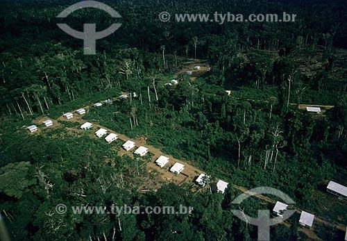 Assunto: Casas de operários que construíram a rodovia Transamazônica / Local: Amazonas (AM) - Brasil / Data: Década de 70