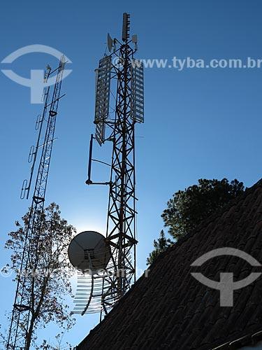 Assunto: Antenas de comunicação no alto do Morro do Elefante em Campos do Jordão                           / Local: Campos do Jordão - São Paulo (SP) - Brasil / Data: 09/2012