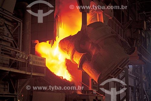 Assunto: Aciaria - Companhia Siderúrgica Nacional (CSN) / Local: Volta Redonda - Rio de Janeiro (RJ) - Brasil / Data: 2009