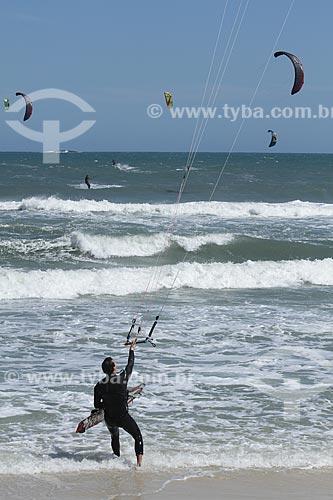 Assunto: Kitesurf na Praia da Barra da Tijuca / Local: Barra da Tijuca - Rio de Janeiro (RJ) - Brasil / Data: 10/2012