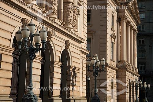 Assunto: Detalhe da fachada do prédio da Secretaria da Justiça e da Defesa da Cidadania do Estado de São Paulo / Local: São Paulo  (SP)  -  Brasil / Data: 06/2012