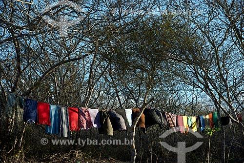 Assunto: Roupas no varal no Parque Nacional do Catimbau / Local: Buíque - Pernambuco (PE) - Brasil / Data: 08/2012