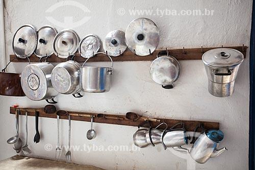 Assunto: Utensílios de cozinha na casa sede da Fazenda Não Me Deixes / Local: Daniel de Queiroz - Quixadá - Ceará  (CE) - Brasil / Data: 11/2012