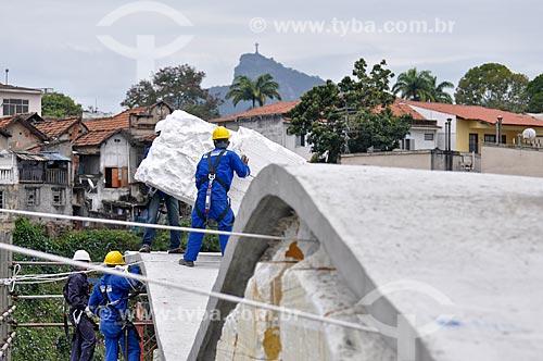 Assunto: Obras de construção do Museu de Arte do Rio (MAR) com o Cristo Redentor ao fundo / Local: Praça Mauá - Rio de Janeiro (RJ) - Brasil / Data: 09/2012