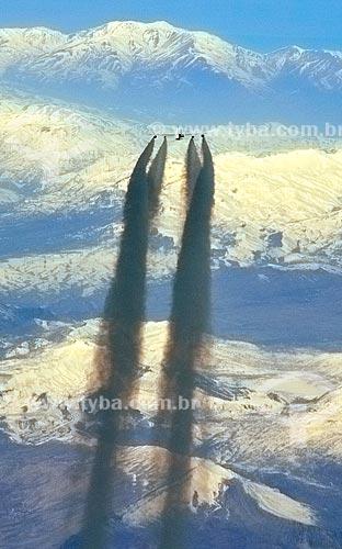 Assunto: Trilha de condensação deixada pelo Airbus A380 - maior avião comercial de passageiros da história / Local: Próximo à Turquia - Europa / Data: 03/2012