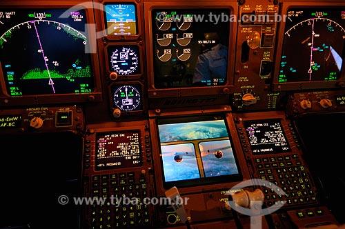 Assunto: Painel de comando do Boeing B777 / Local: Próximo à Brasov - Romênia - Europa / Data: 10/2011