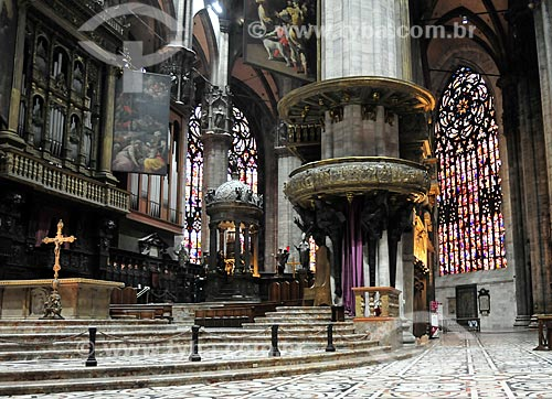 Assunto: Altar da Catedral de Milão (Século XV) / Local: Milão - Itália - Europa / Data: 03/2010