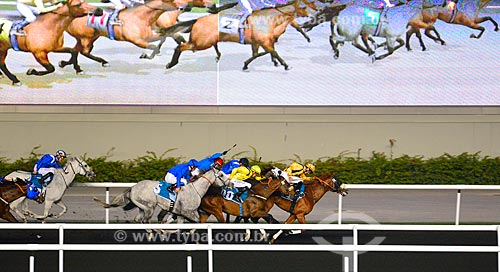 Assunto: Corrida de cavalos - Dubai Racing Club / Local: Meydan - Dubai - Emirados Árabes Unidos - Ásia / Data: 03/2012
