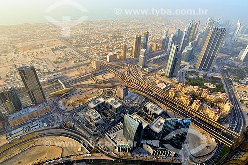 Assunto: Vista do complexo de prédios do Dubai International Financial Center (DIFC) do Edifício Burj Khalifa - edifício mais alto do mundo / Local: Dubai - Emirados Árabes Unidos - Ásia / Data: 03/2012