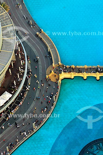 Assunto: Ponte Souk Al Bahar no Lago Burj Khalifa / Local: Dubai - Emirados Árabes Unidos - Ásia / Data: 03/2012