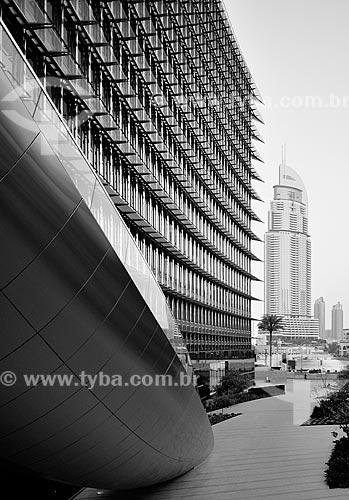 Assunto: Fachada do Edifício Burj Khalifa com o The Address Downtown Hotel ao fundo / Local: Dubai - Emirados Árabes Unidos - Ásia / Data: 03/2012