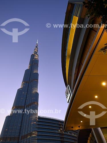 Assunto: Edifício Burj Khalifa - prédio mais alto do mundo / Local: Dubai - Emirados Árabes Unidos - Ásia / Data: 03/2012