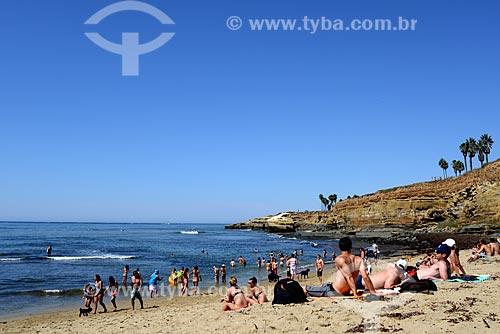 Assunto: Banhistas na praia de Sunset Cliffs / Local: Sunset Cliffs - San Diego - Califórnia - Estados Unidos da América - EUA / Data: 09/2012