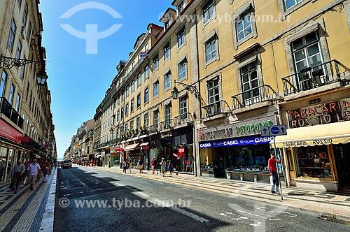 Assunto: Vista da Rua Áurea / Local: Baixa - Lisboa - Portugal - Europa / Data: 08/2012