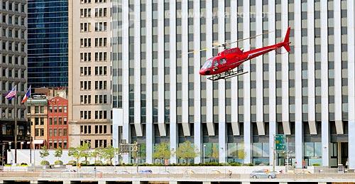Assunto: Helicóptero próximo ao The Downtown Manhattan Heliport / Local: Manhattan - Nova Iorque - Estados Unidos - América do Norte / Data: 08/2010