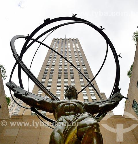 Assunto: Estátua de Atlas no Rockefeller Plaza / Local: Manhattan - Nova Iorque - Estados Unidos - América do Norte / Data: 09/2010
