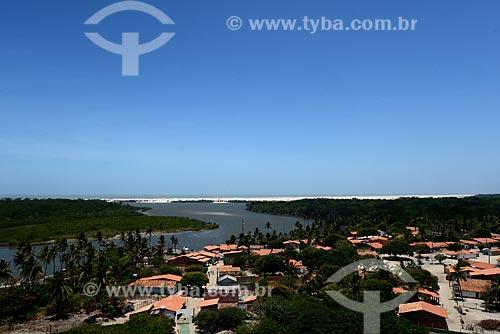 Assunto: Povoado de Mandacaru e Rio Preguiças vistos do Farol de Mandacaru / Local: Mandacaru - Barreirinhas - Maranhão (MA) - Brasil / Data: 10/2012