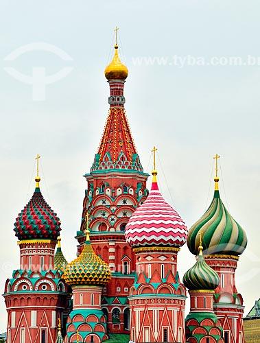 Assunto: Cúpulas da Catedral de São Basílio (1561) / Local: Moscou - Rússia - Europa / Data: 09/2010