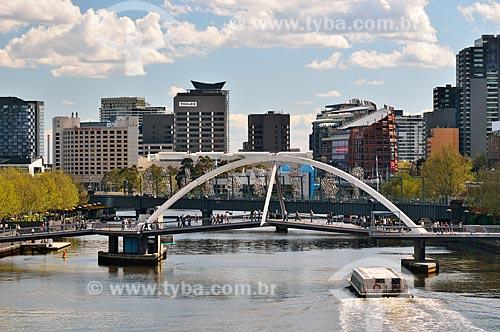 Assunto: Southgate - passarela de pedestre sobre o Rio Yarra / Local: Melbourne - Austrália - Oceania / Data: 10/2010