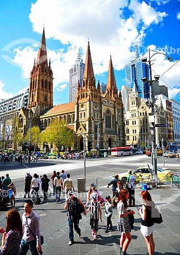 Assunto: Catedral de São Paulo (1891)  / Local: Melbourne - Austrália - Oceania / Data: 10/2010