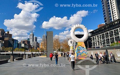 Assunto: Obras de artes às margens do Rio Yarra / Local: Melbourne - Austrália - Oceania / Data: 10/2010