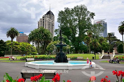 Assunto: Fonte no Albert Park (Parque Albert) / Local: Auckland - Nova Zelândia - Oceania / Data: 01/2011