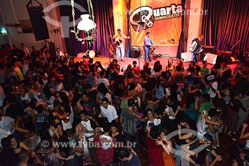 Assunto: Baile de forró que acontece as quartas-feiras, conhecido como Quarta Democrática no Clube dos Democráticos na Lapa / Local: Rio de Janeiro (RJ) - Brasil / Data: 11/2012