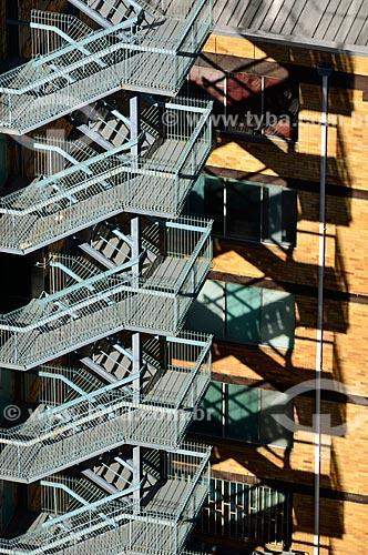 Assunto: Escada de incêndio de um edifício / Local: Brisbane - Queensland - Austrália - Oceania / Data: 07/2011