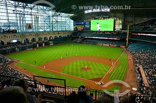 Assunto: Partida de Beisebol no Minute Maid Park (Houston Astros X Milwaukee Brewers) / Local: Houston - Texas - Estados Unidos da América - América do Norte / Data: 09/2011