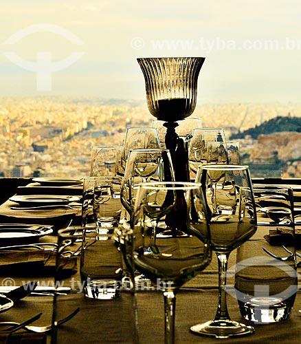 Assunto: Mesa posta no Restaurante Lycabettus Hill / Local: Atenas - Grécia - Europa / Data: 04/2011