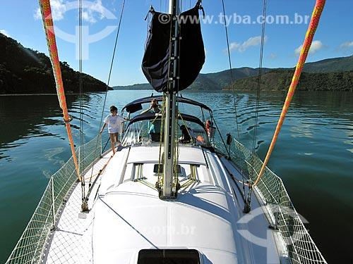 Assunto: Barco na Enseada de Paraty-mirim / Local: Paraty-Mirim - Paraty - Rio de Janeiro (RJ) - Brasil / Data: 07/2008