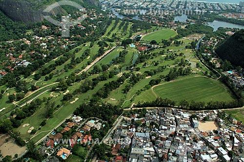 Assunto: Vista do Itanhangá Golf Club e comunidade da Tijuquinha à direita / Local: Itanhangá - Rio de Janeiro (RJ) - Brasil / Data: 12/2012