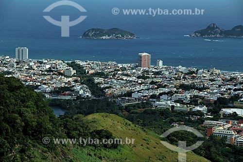 Assunto: Vista da Barra da Tijuca com Ilha Alfavaca e Pontuda ao fundo / Local: Barra da Tijuca - Rio de Janeiro (RJ) - Brasil / Data: 12/2012