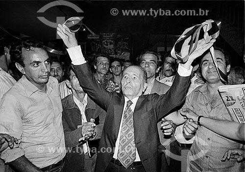 Assunto: Luis Carlos Prestes na Associação Brasileira de Imprensa - ABI / Local: Centro - Rio de Janeiro (RJ) - Brasil / Data: Década de 80