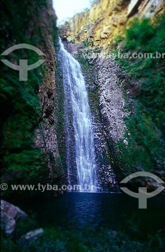 Assunto: Cachoeira do Segredo no entorno do Parque Nacional Chapada dos Veadeiros / Local: Distrito de São Jorge - Alto Paraíso de Goiás - Goiás (GO) - Brasil / Data: 07/2004