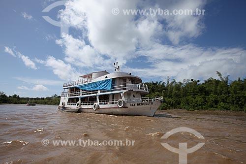 Assunto: Barco de transporte de passageitos no Rio Araguari / Local: Amapá (AP) - Brasil / Data: 05/2012