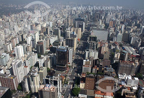 Assunto: Vista aérea da Avenida Paulista / Local: Bela Vista - São Paulo (SP) - Brasil / Data: 10/2012
