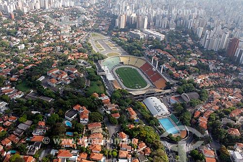 Assunto: Vista aérea do Estádio Pacaembu (Estádio Municipal Paulo Machado de Carvalho)  / Local: São Paulo (SP) - Brasil / Data: 11/2012