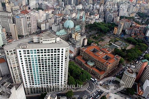 Assunto: Vista aérea da região da Praça da Sé / Local: São Paulo (SP) - Brasil / Data: 11/2012