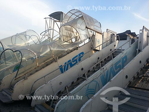 Assunto: Sucata da Vasp (Viação Aérea São Paulo) no Aeroporto Santos Dumont / Local: Centro - Rio de Janeiro (RJ) - Brasil / Data: 10/2012