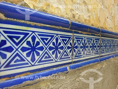 Assunto: Azulejos portugueses no Largo do Boticário / Local: Cosme Velho - Rio de Janeiro (RJ) - Brasil / Data: 11/2012