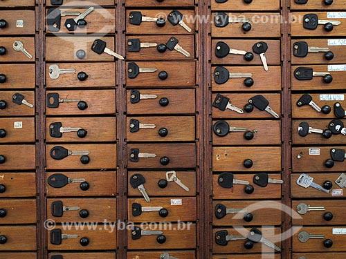 Assunto: Caixas com chaves / Local: São Paulo (SP) - Brasil / Data: 08/2010