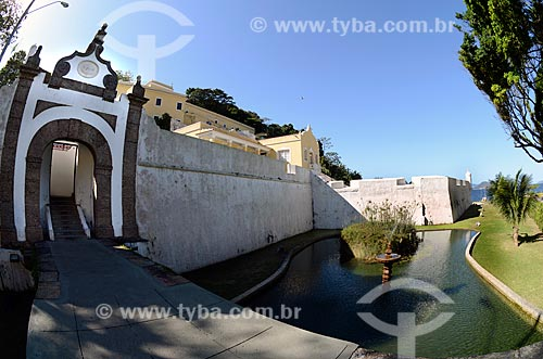 Assunto: Portão da Fortaleza de São João - também conhecida como Fortaleza de São João da Barra do Rio de Janeiro / Local: Urca - Rio de Janeiro (RJ) - Brasil / Data: 08/2012
