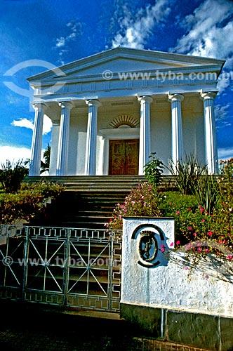 Assunto: Fachada do prédio da Sociedade Brasileira de Eubiose / Local: São Lourenço - Minas Gerais (MG) - Brasil / Data: 1986