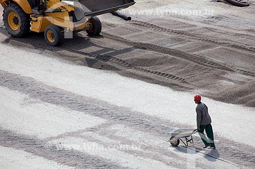 Assunto: Reforma do Estádio Jornalista Mário Filho - também conhecido como Maracanã - implantação do sistema de drenagem do gramado / Local: Maracanã - Rio de Janeiro (RJ) - Brasil / Data: 12/2012