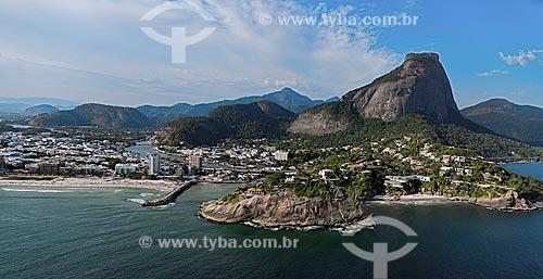 Assunto: Vista do canal e da praia da Joatinga e do Quebra-mar / Local: Barra da Tijuca - Rio de Janeiro (RJ) - Brasil / Data: 12/2012