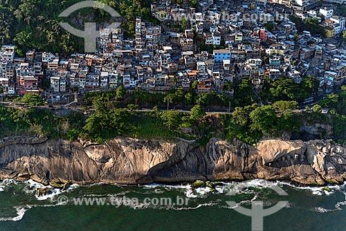 Assunto: Vista aérea da Favela do Vidigal / Local: São Conrado - Rio de Janeiro (RJ) - Brasil / Data: 12/2012