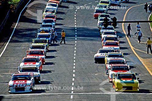 Assunto: Corrida de Stock Car no Autódromo José Carlos Pace conhecido como Autódromo de Interlagos / Local: Interlagos  - São Paulo (SP) - Brasil / Data: 1986